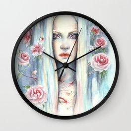 """""""Blossom"""" Watercolour Surreal Fantasy Nymph Wall Clock"""