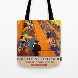 Vintage poster - Brightest London Tote Bag
