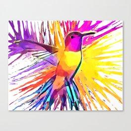 Hummingbird Watercolor Canvas Print
