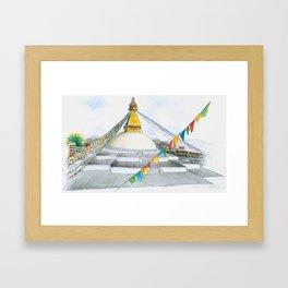 Boudha,Kathmandu Framed Art Print