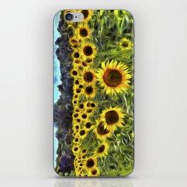Sunflower Fields Of Dreams Van Goth iPhone Skin