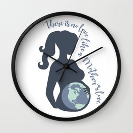 Earth Mother Wall Clock