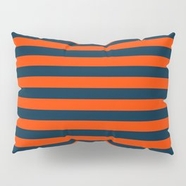 Orange Pop & Navy Blue Tent Stripe Pillow Sham