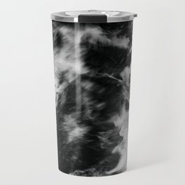 Waves III - Black and White Travel Mug