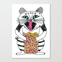 Emotional Cat. Graphic Joy. Canvas Print