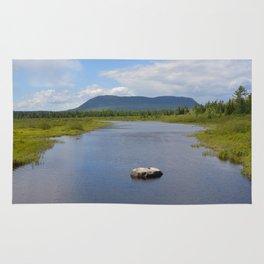 Mountain Overlooking River Rug