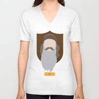 phil jones V-neck T-shirts featuring Phil by Maxwell Lesatz