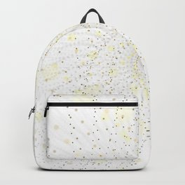 Golden swirling particles Backpack