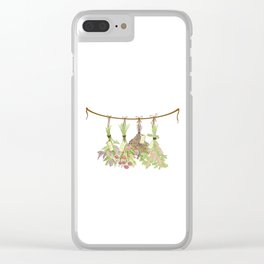 Original Herbs in Pastel Color Clear iPhone Case