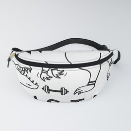 Hustle that muscle - T-Rex Funny Workout Fitness Gym Design Fanny Pack