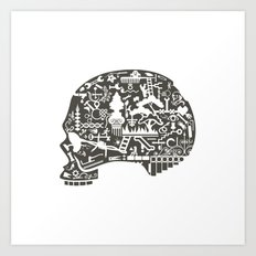 Icon Skull Art Print