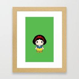 Blancanieves pin y pon Framed Art Print