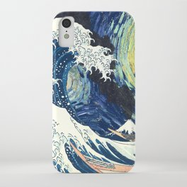 Starry Night Over The Great Wave Off Kanagawa Van Gogh/Hokusai iPhone Case