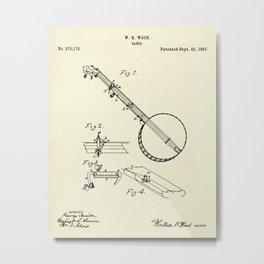 Banjo-1887 Metal Print