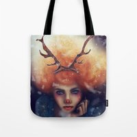 helen green Tote Bags featuring Helen by Joan Culum