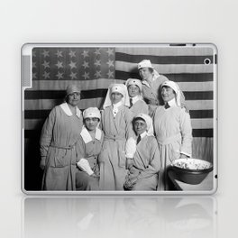 Red Cross Workers With US Flag - Paris - 1919 Laptop & iPad Skin