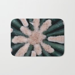Cactus Plant Close-up Photogrpahy Round Photo Bath Mat