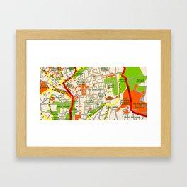 Jerusalem map design Framed Art Print