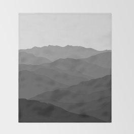 Shades of Grey Mountains Throw Blanket