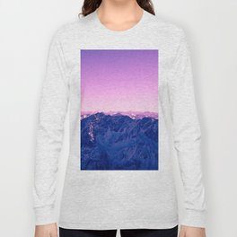 Pink Mountains #society6 #photography Long Sleeve T-shirt