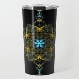 The Beginning of Life Mandala Travel Mug