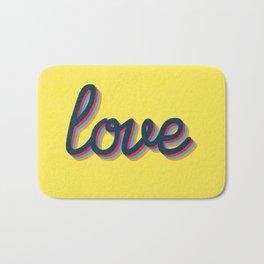 Love - yellow version Bath Mat