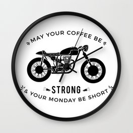 Cafe Racer - Monday Wall Clock