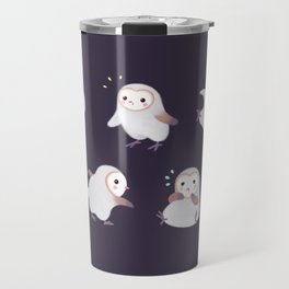 Baby Barn Owls - dark Travel Mug