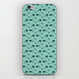 country blue flowers pattern iPhone Skin