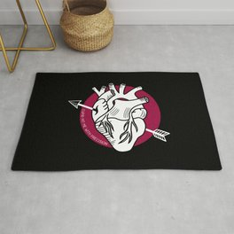 Arrow heart Rug