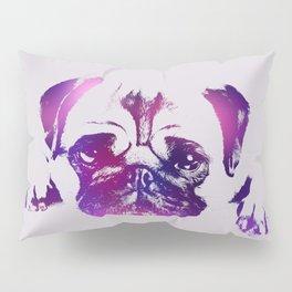 Pug dog Digital Art Pillow Sham