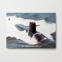 USS JAMES MONROE (SSBN-622) Metal Print