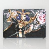 league of legends iPad Cases featuring LeBlanc League of Legends Set by Mistiqarts