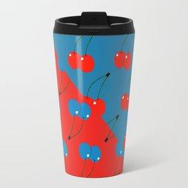 Blue Cherries Travel Mug