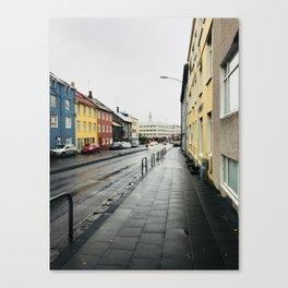 On the Streets of Reykjavík Canvas Print