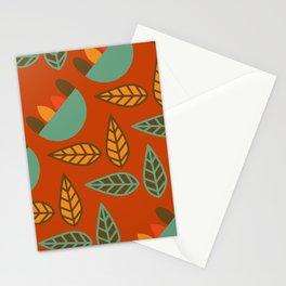 Retro floral club Stationery Cards