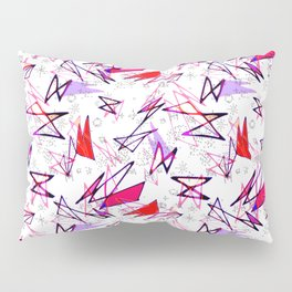 Wacky 80s/Red Dynamite//Geo Pattern #4 Pillow Sham