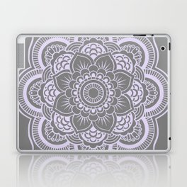 Mandala Flower Gray & Lavender Laptop & iPad Skin