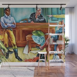 """African American Classical Masterpiece """"The Trail of the Amistad Captives"""" by Hale Woodruff Wall Mural"""