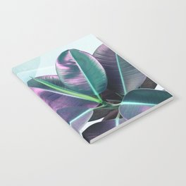 Violet Tropical Plant Notebook