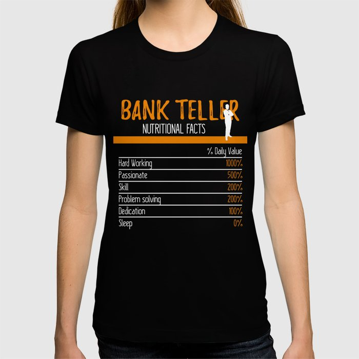 Bank Teller Ingredients T-shirt