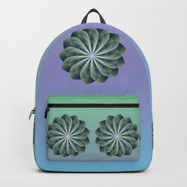 Unfolded petals, floral fractal design Backpack