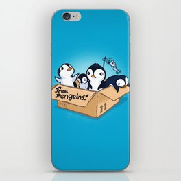 Free Penguins! iPhone Skin