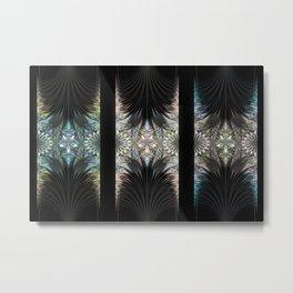 Floral Curtains Metal Print