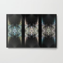 Floral Curtains Metal Print