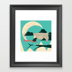 Did you see the whale in flight Framed Art Print