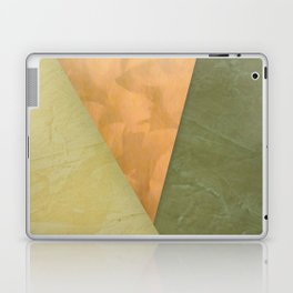 Golden Triangle With Green and Cream Laptop & iPad Skin