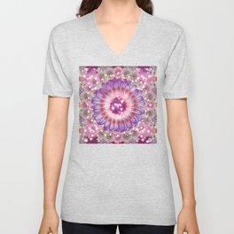 pink love daisy Unisex V-Neck