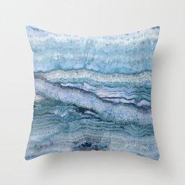 Mystic Stone Aqua Blue Throw Pillow
