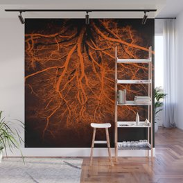 Twisted Perception Amber Wall Mural